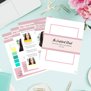 the personal color consulation will help you feel more confident choosing your clothes
