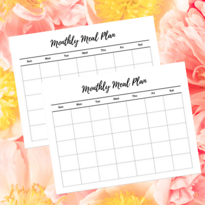 monthly meal plan free printable
