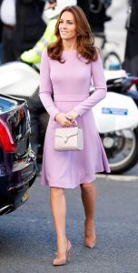 Duchess Kate in Emilia Wickstead with Aspinal handbag