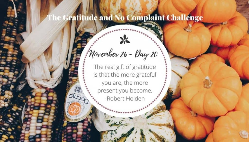 As part of the gratitude challenge, many women felt themselves becoming more present.
