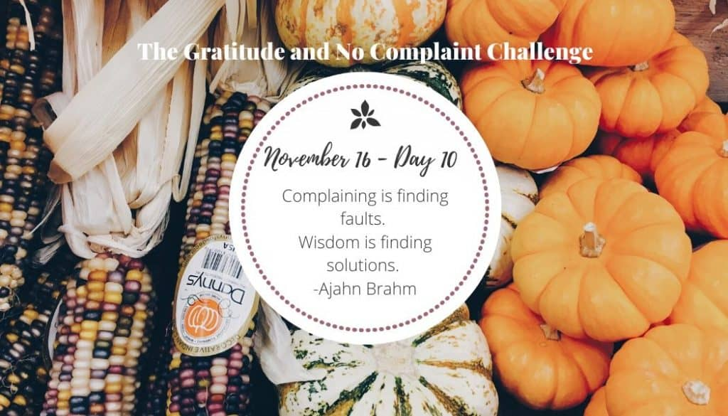 With the gratitude challenge, I learned that the more grateful I am, the less I complain.