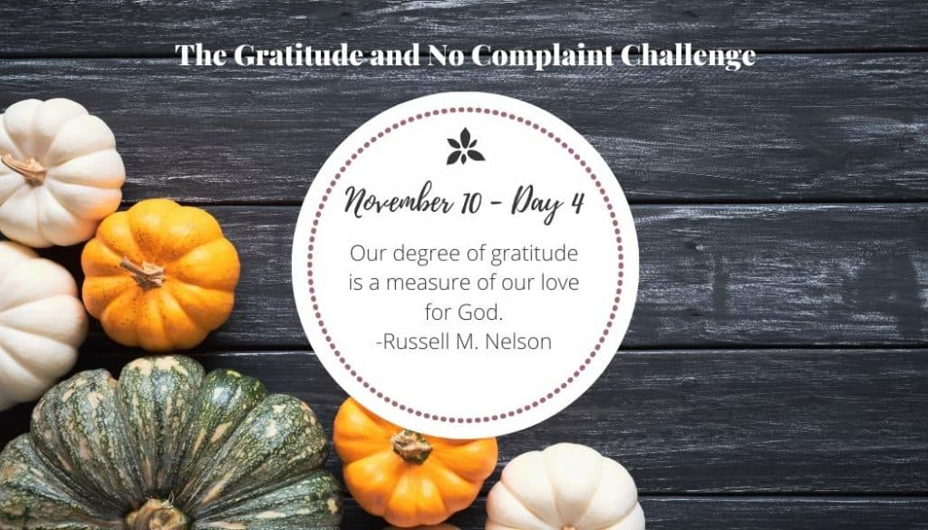 This was one of my favorite quotes in our gratitude challenge.