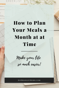 Save both time and money by planning your meals a month at a time