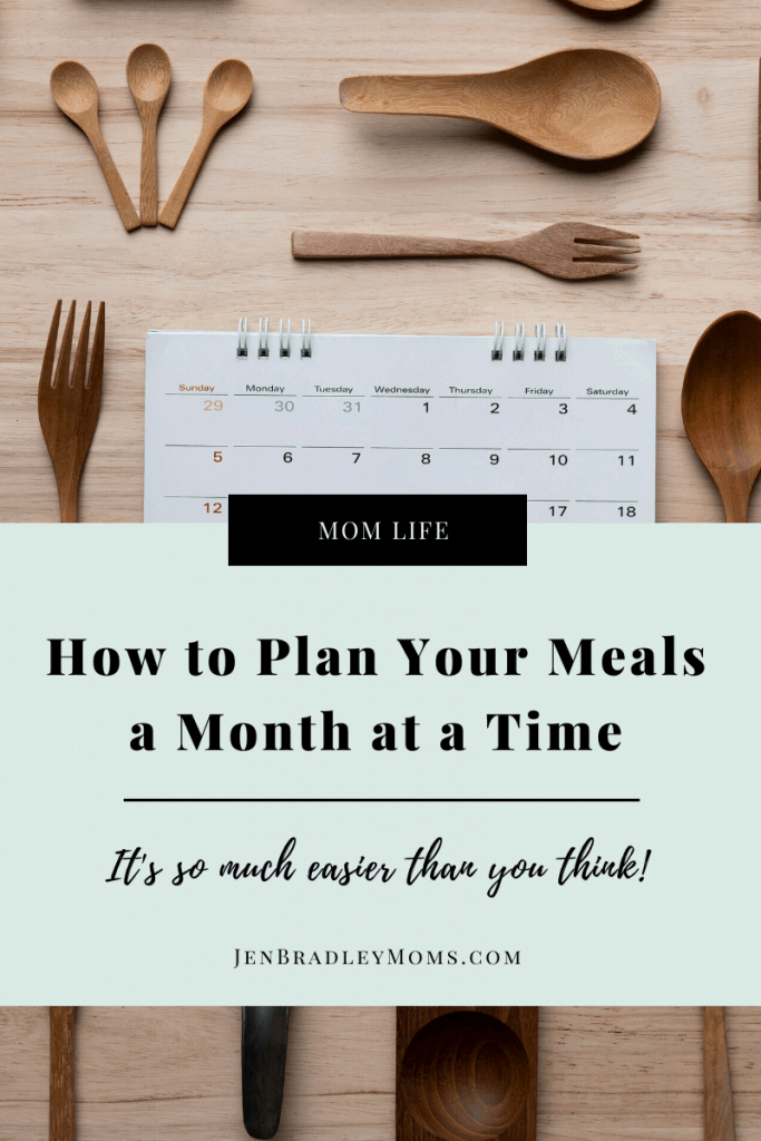 Planning Your Meals a month at a time is easier than you think!