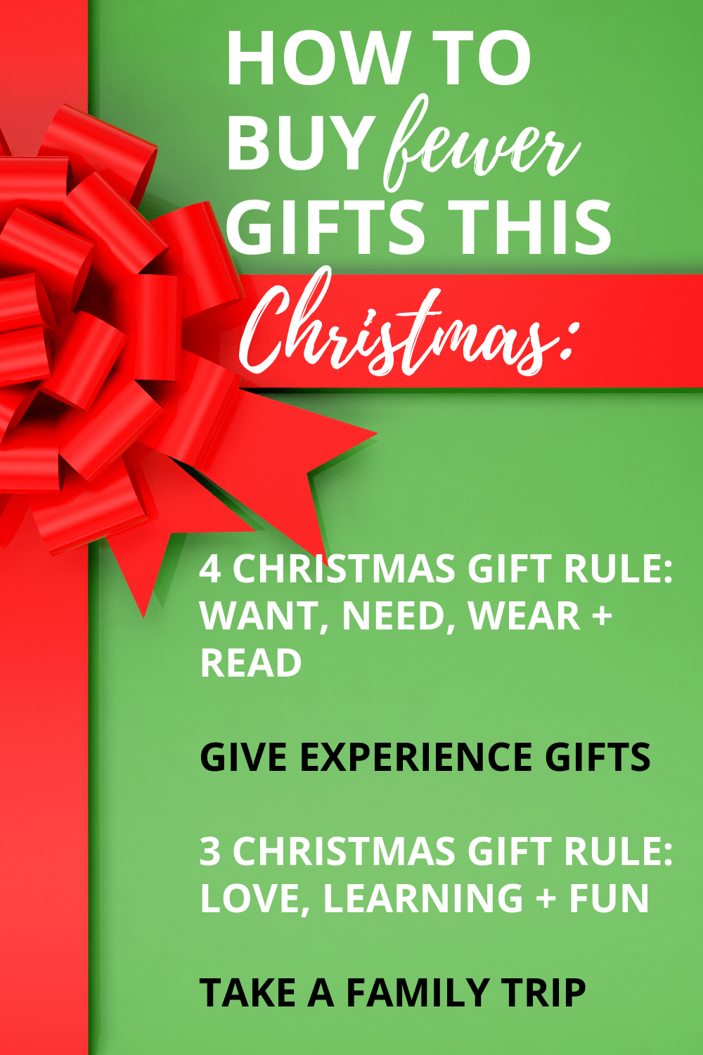 The 4 Christmas Gift Rule + Other Awesome Ways to Buy Fewer Presents