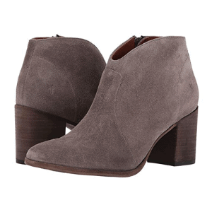 These booties have a flattering almond shaped toe