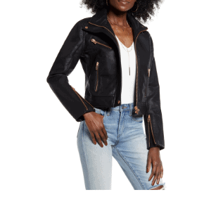 A cropped moto jacket is a great wardrobe essential.