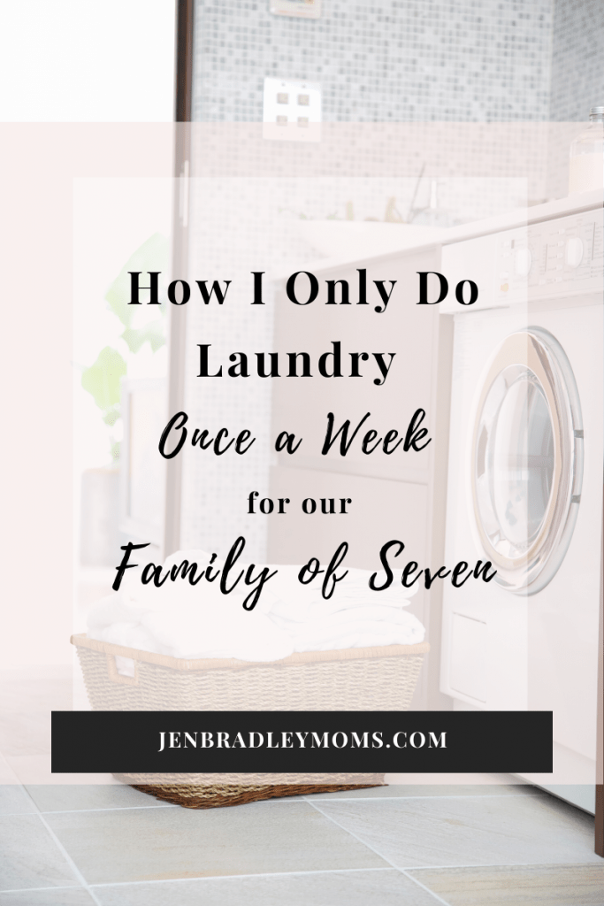 Will you try doing laundry once a week?