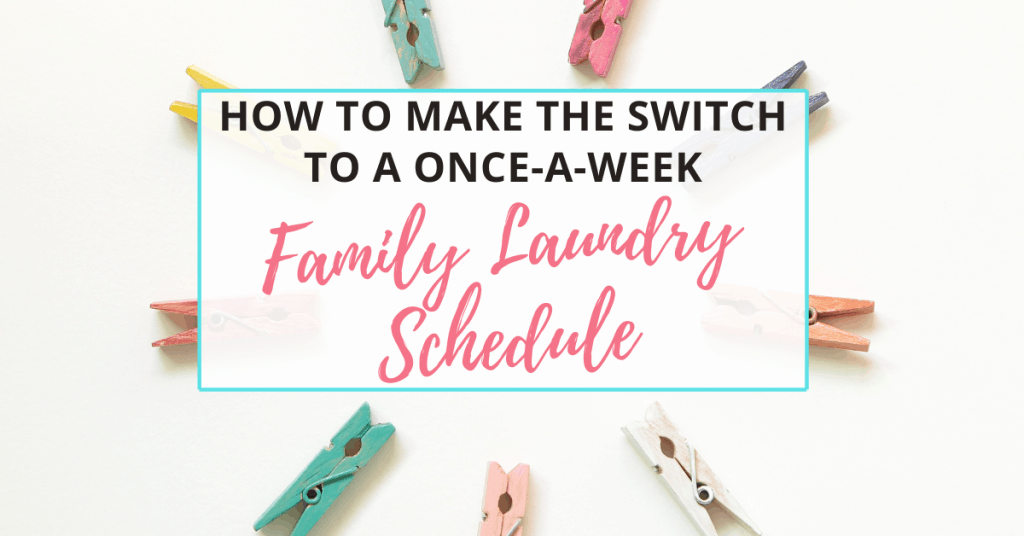 family laundry schedule