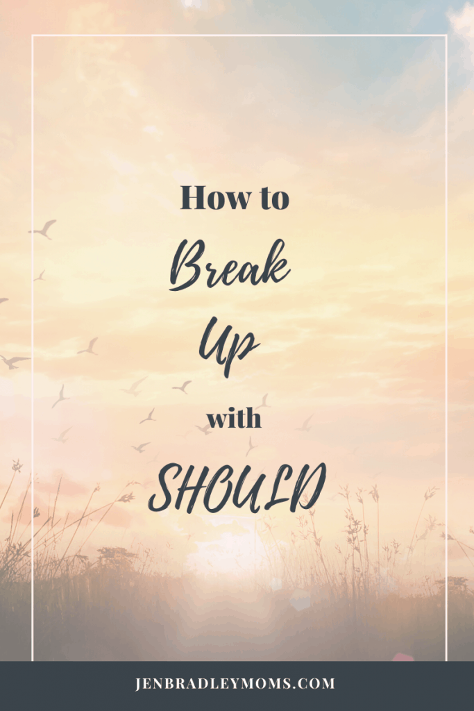Learning how to break up with should brings freedom for moms