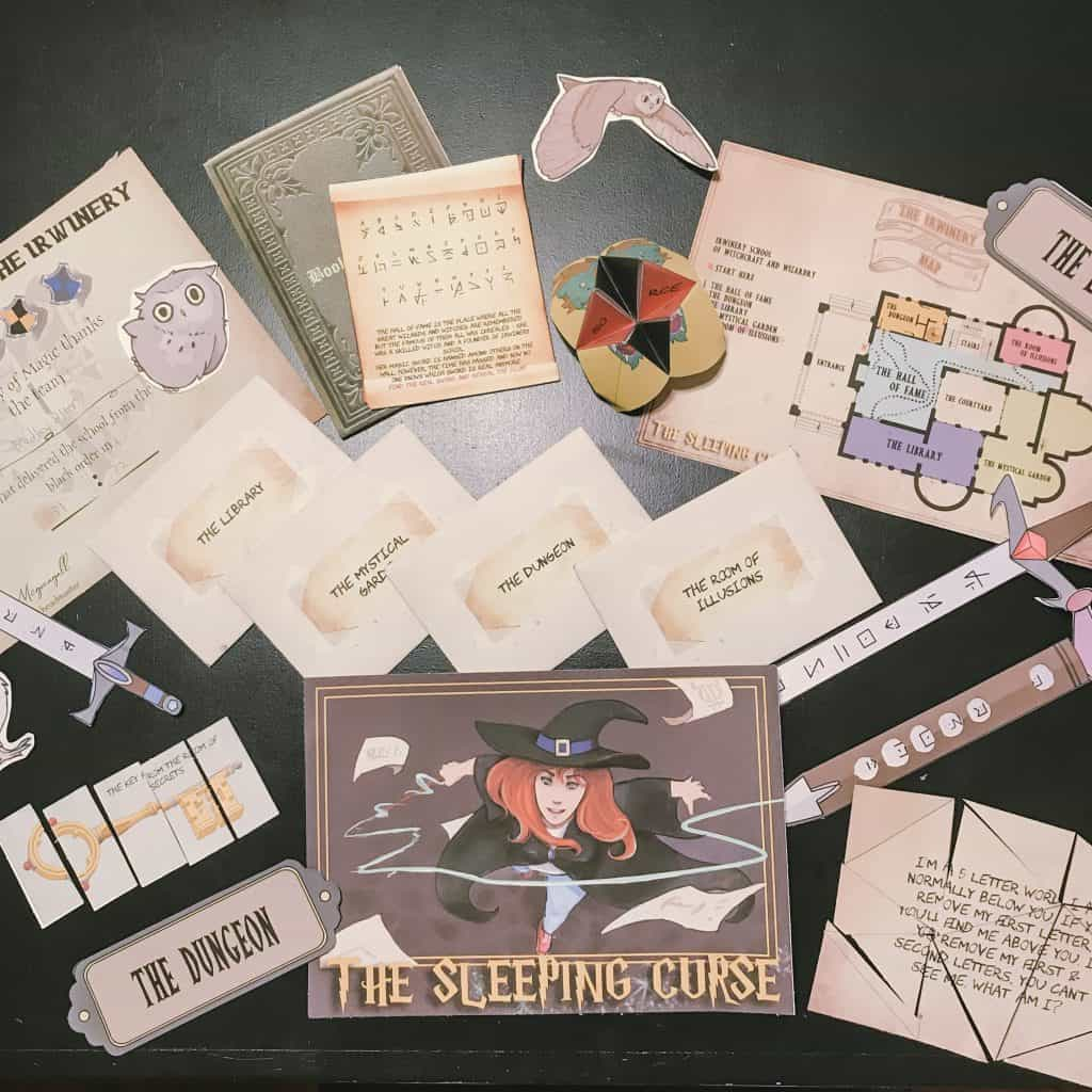 The Sleeping Curse escape kit was a favorite indoor activity to stop boredom
