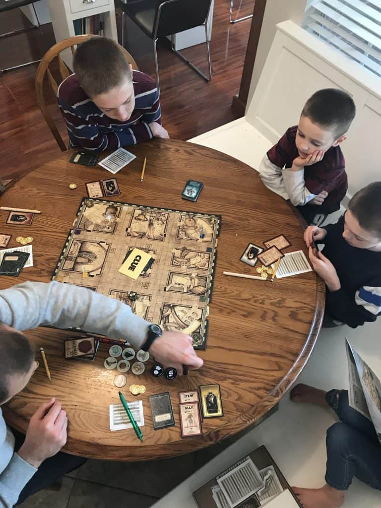 We enjoy playing board games as a family