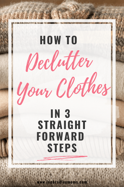 clothes decluttering tips
