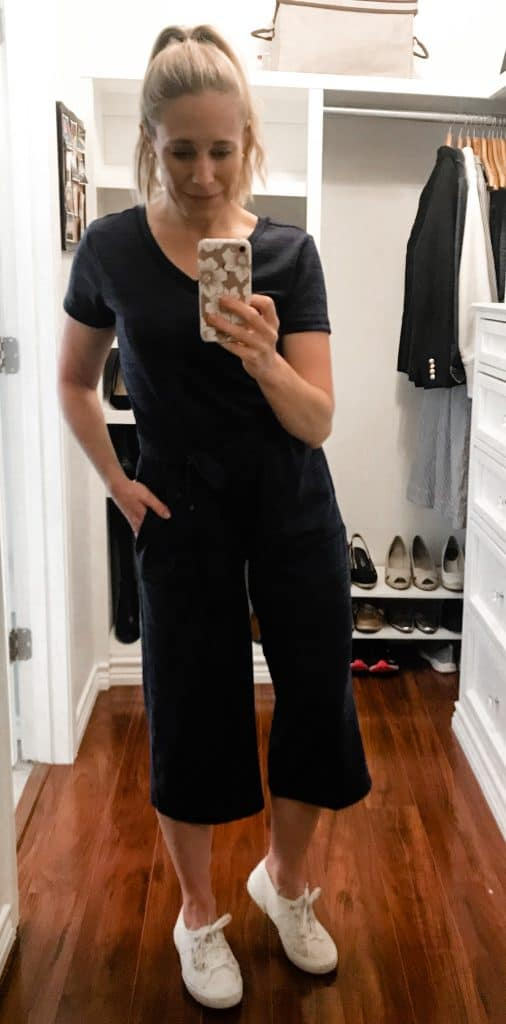 A monochrome jumpsuit is my favorite way to look put together and still feel comfortable