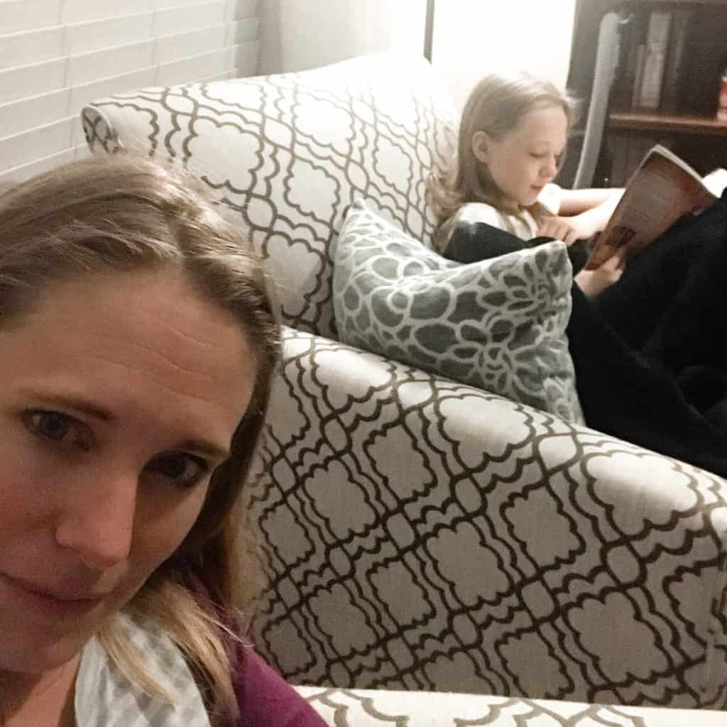 A fun date reading late together