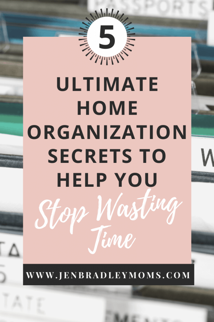 which one of these five home organization secrets will you start doing?