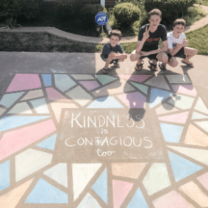 the sidewalk chalk mosaic was easy and fun