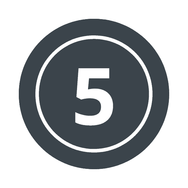 number 5 graphic