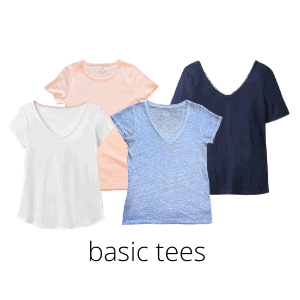every capsule wardrobe can benefit from good basic tees