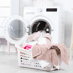 consolidating laundry is a great productivity tip