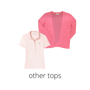 a polo and cardigan round out my summer capsule tops