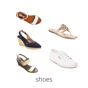 five pairs of shoes are all i need for my summer capsule