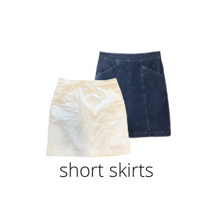 short skirts are a summer must-have!