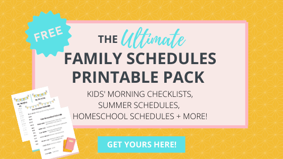 grab these great schedule printables now!