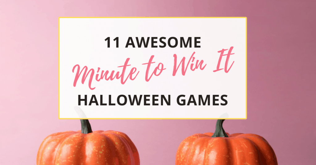 These 11 awesome Halloween minute to win it games will help make Halloween 2020 more fun!