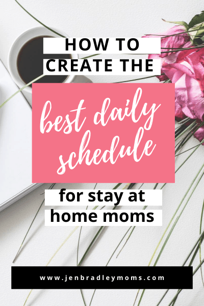 an evening routine is the perfect way to end your daily stay at home mom schedule