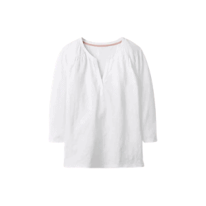 white notch neck tee for fall capsule