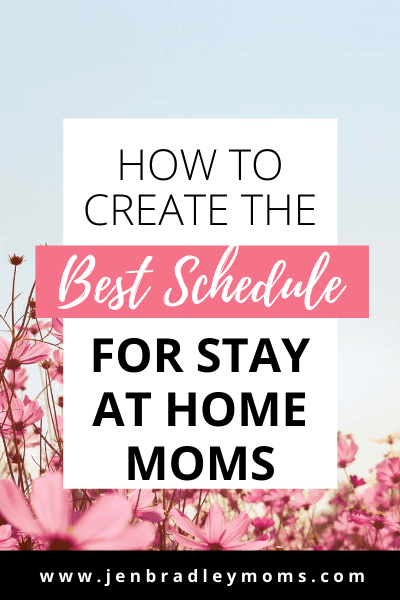 divide your day into three parts to create the best daily schedule for moms