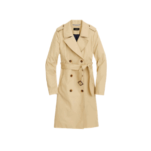 a trench coat is an iconic piece for any capsule wardrobe