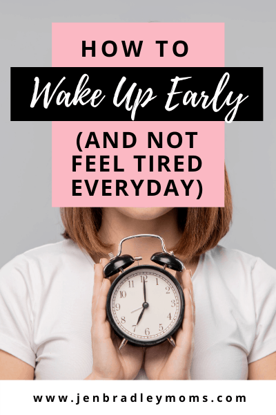not feeling tired all day is an important part of waking up early