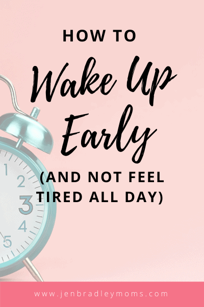 you can start waking up early (and not feel tired) everyday