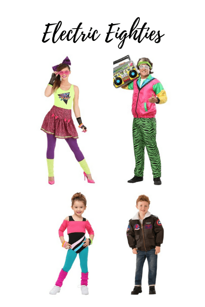 80s Halloween costumes for the family