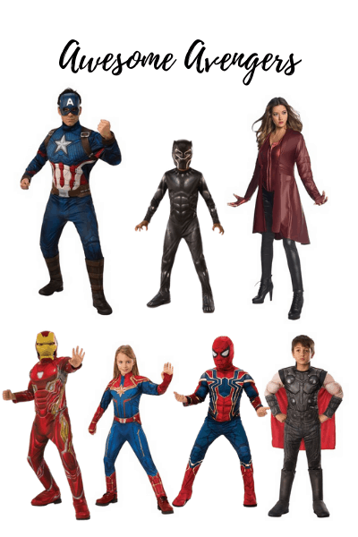 Avengers is a great family Halloween costume theme