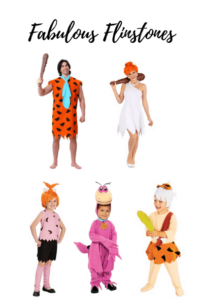 the Flintstones are a less common family Halloween theme