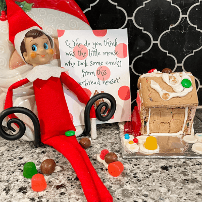 sneaky elf on the shelf idea