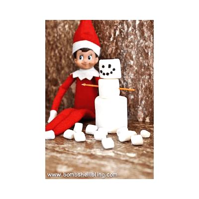elf on the shelf snowman idea