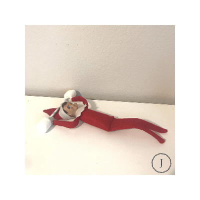elf on the shelf working out