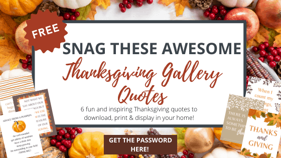 thanksgiving gallery quote printables