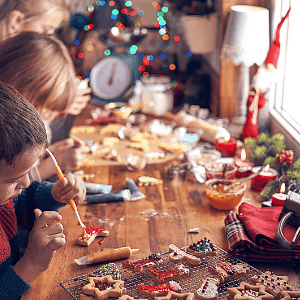 Christmas cookie decorating for kids