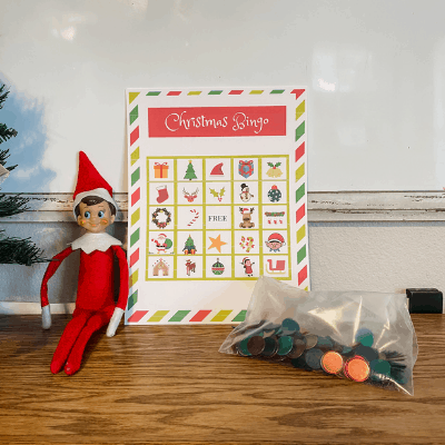 elf on the shelf Christmas bingo