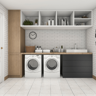 the laundry room is a great place to start