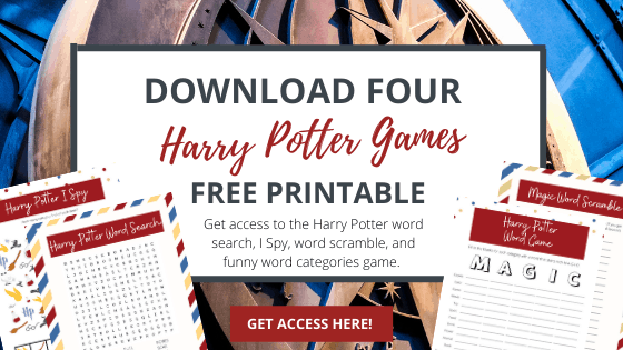 harry potter printable games free