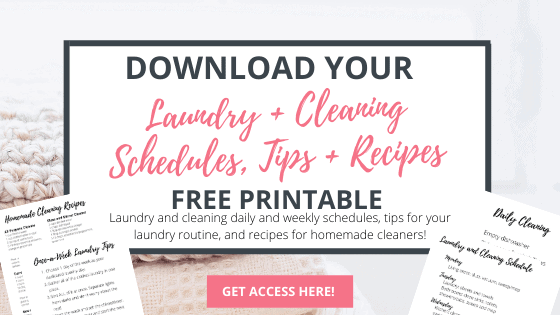 free laundry and cleaning tips printable