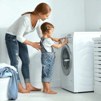 involve your kids in your laundry routine