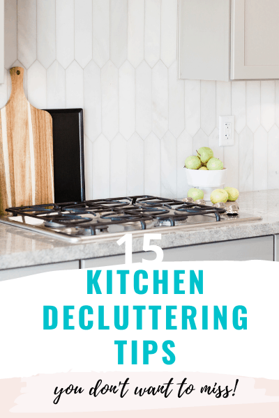 tips for decluttering a kitchen