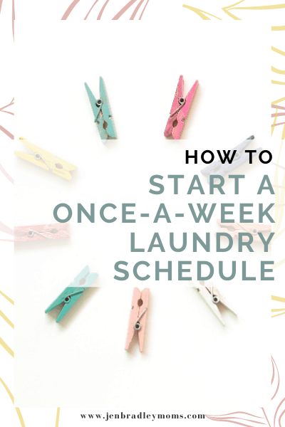 once a week laundry routine